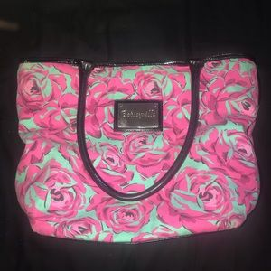 Betsey Johnson Teal Rose Bag